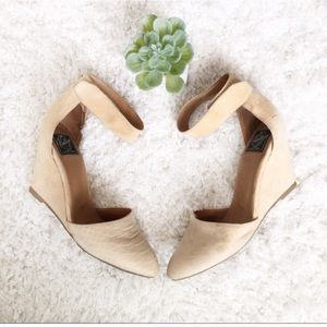Jeffrey Campbell Vintage Suede Tan Wedges Heels